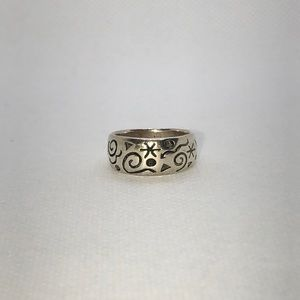 💛 Sterling Silver Vintage Abstract Ring